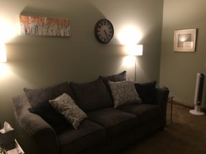 Kalamazoo Counseling new office couch